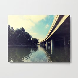 Freeway Overpass at Hollenbeck Park, Los Angeles, CA Metal Print