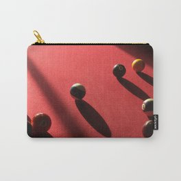 Blood Red Billiard Table and Balls Carry-All Pouch