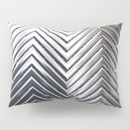 Silver Chevron Pillow Sham