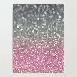 Gray and Light Pink Poster