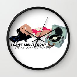 Lilo Can't Adult Today Wall Clock