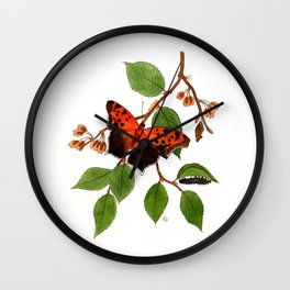 Questionmark Butterfly Wall Clock