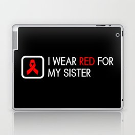 Red Ribbon: Red for my Sister Laptop & iPad Skin