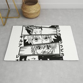 Hunter X Hunter Best Characters Kurapika Gon Killua Leorio Hisoka - Manga Lovers Otaku Gifts Rug