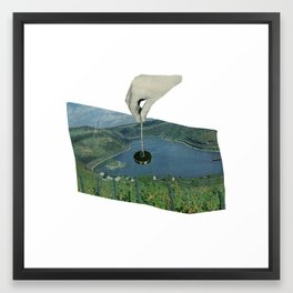 Put A Plug In It. Framed Art Print