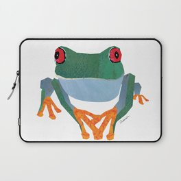 Tree Frog, Collage Laptop Sleeve