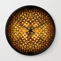 ale giorgini Wall Clocks featuring Fairy Tales and Amber Ale by lilchillipadi