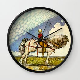 """""""Out Into the Wide World"""" by John Bauer Wall Clock"""
