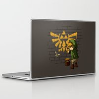 banksy Laptop & iPad Skins featuring Link Banksy by le.duc