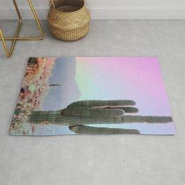 Rainbow Sky With Cactus Rug