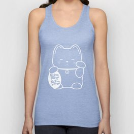 Stay Lucky WHT Unisex Tank Top