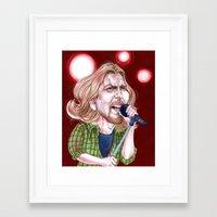 eddie vedder Framed Art Prints featuring Vedder by C.M. Duffy