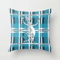 zebra Throw Pillows featuring Zebra  by mailboxdisco