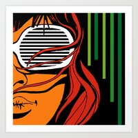 lips Art Prints featuring Lips by David Navascues