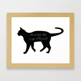 Black cat | Witchy cat | Sacred cat | Witch quotes | Wicca quotes Framed Art Print