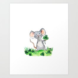 Melvin the Mouse Art Print