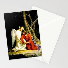 Carl Heinrich Bloch Angel With Jesus Christ Before Arrest in the Garden of Gethsemane Stationery Cards
