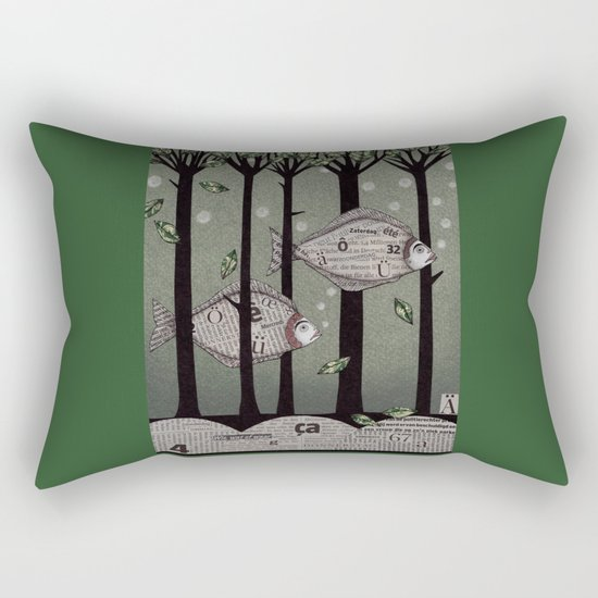 A Fishy Story Rectangular Pillow