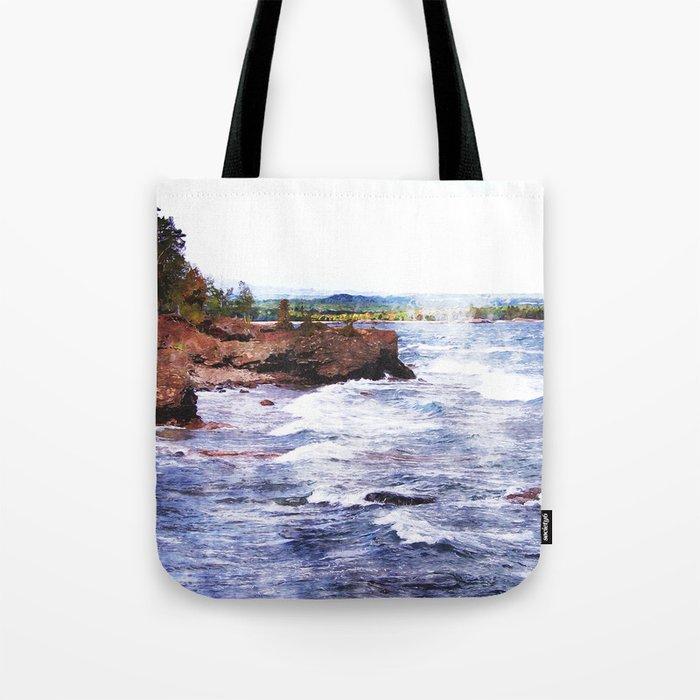 Upper Peninsula Landscape Tote Bag