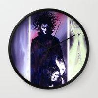 sandman Wall Clocks featuring Sandman: Triptych by kenmeyerjr