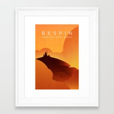 Outer Rim Travel Bureau: Bespin Framed Art Print