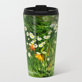 Upside Down Daisies Travel Mug