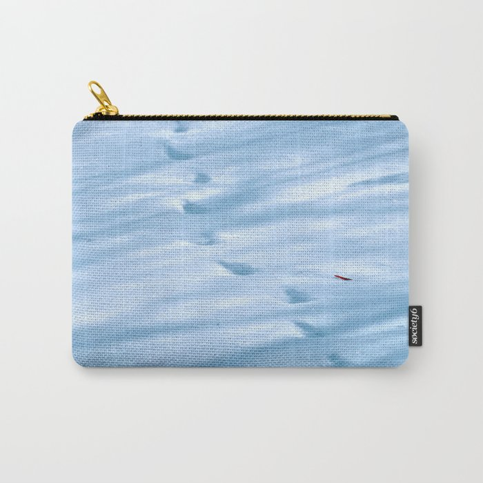 Snow Fall Feather Carry-All Pouch