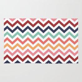 Chevron Zigzag Multicolor Rug
