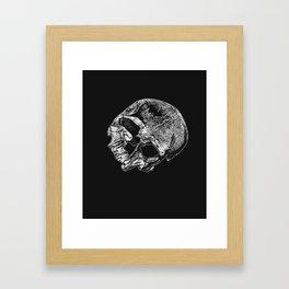 Human Skull Vintage Illustration  Framed Art Print
