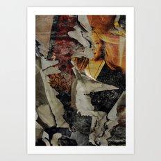 Peeling: Blonde Woman Art Print