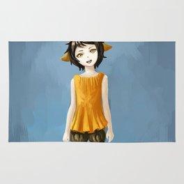 Girl in shorts Rug