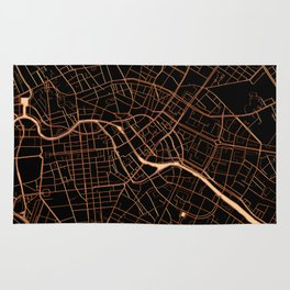 Black and gold Berlin map Rug