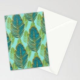 Large Palms - Aqua Stationery Cards