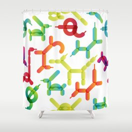 Balloon animals pattern #2 Shower Curtain