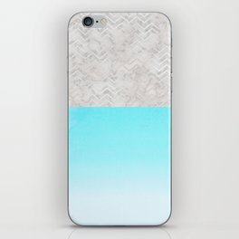 Painted Marble - Gray Aqua Silver iPhone Skin