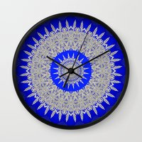 frozen Wall Clocks featuring Frozen  by Lena Photo Art