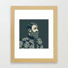 BEARDED PHILOSOPHER Framed Art Print