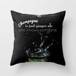 GIN Throw Pillow