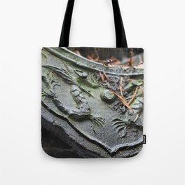 Chinese Dragon Tile Tote Bag