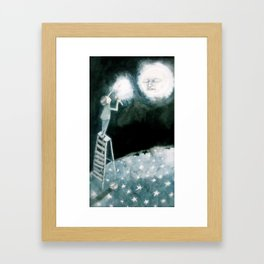 lights will guide you home... Framed Art Print