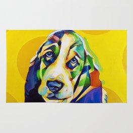 Pop Art Basset Hound Rug