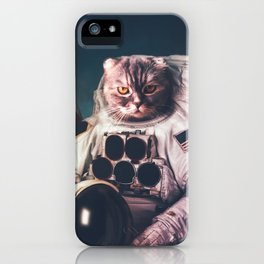 Beautiful cat astronaut iPhone Case