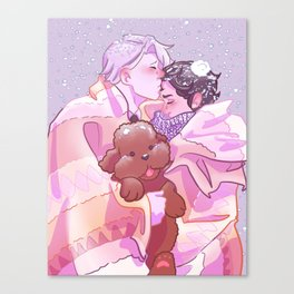 Viktuuri winter hug Canvas Print