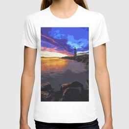 Walton lighthouse, California at sunset T-shirt