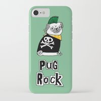 hiphop iPhone & iPod Cases featuring Pug Rock by gemma correll