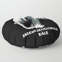 Vintage vector Zoo ad Basel polar bear Floor Pillow