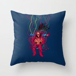 Blazing Sound Throw Pillow