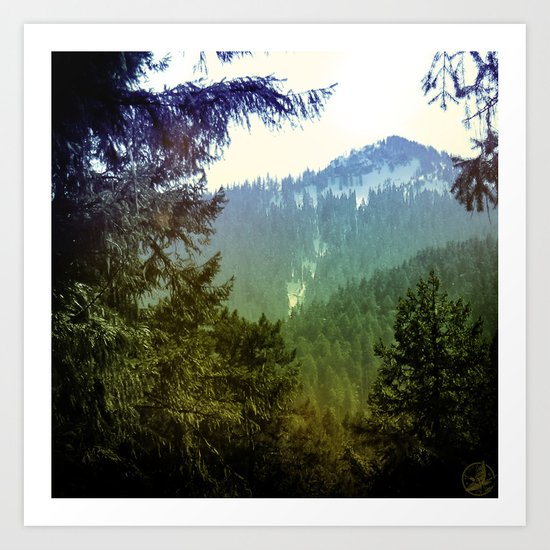 Bluegreen Mountain, Oregon Art Print
