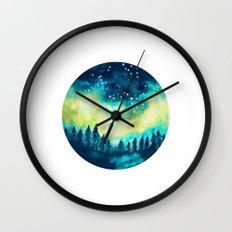 Aurora Borealis Circle Wall Clock