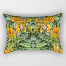 Orange trumpet flower Rectangular Pillow